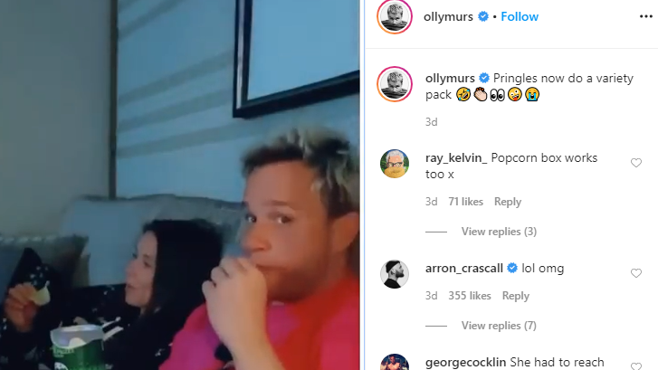 Screengrab from Olly Murs Instagram