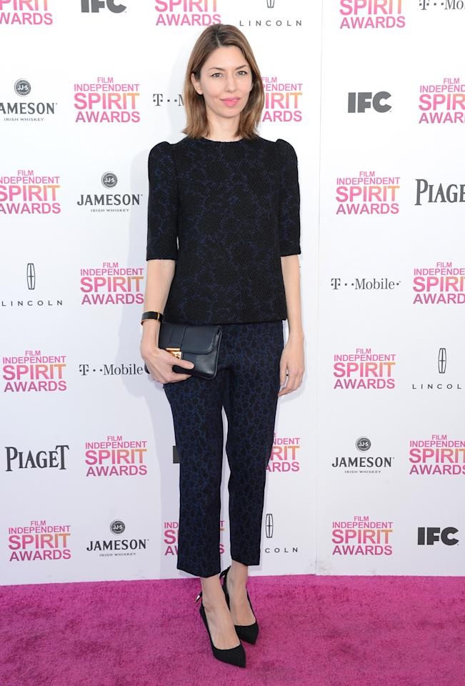 SANTA MONICA, CA - FEBRUARY 23: Director Sofia Coppola attends the 2013 Film Independent Spirit Awards at Santa Monica Beach on February 23, 2013 in Santa Monica, California.  (Photo by Jason Merritt/Getty Images)