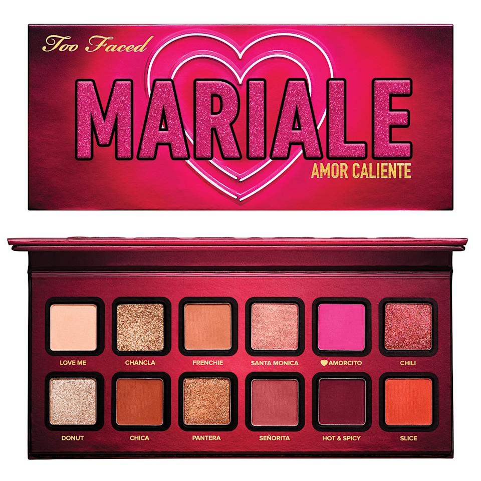 """<p>Mariale says """"it is a dream come true"""" to collaborate with a mainstream American beauty brand.</p> <p>""""Many other brands would not give such an opportunity to a creator who speaks Spanish and has a global audience like I do,"""" she says. """"It can be difficult to have doors slammed in your face just because you are an immigrant.""""</p> <p>""""ForTooFacedto believe in me and to let me create an entire palette that pays homage to being Latina is incredibly special. And even though the Amor Caliente palette is a bit of a love letter to my Latin roots, we made sure to create a palette with shades every skin tone can wear!""""</p> <p><strong>Buy It!</strong> Mariale Amor Caliente Eyeshadow Palette, $42; <a href=""""_wp_link_placeholder"""">toofaced.com</a></p>"""
