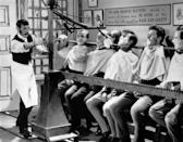 """<p>Yes, the """"mass shaving machine"""" was actually a thing in the early nineteenth century. The purpose was to shave a dozen men at once.<br></p>"""