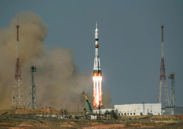 The launch came just ahead of Monday's anniversary of Gagarin's historic flight on April 12, 1961