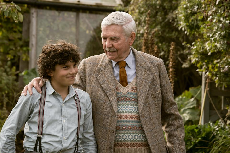 Lucas Bond and Tom Courtenay in a still from <i>Summerland</i> (Lionsgate)