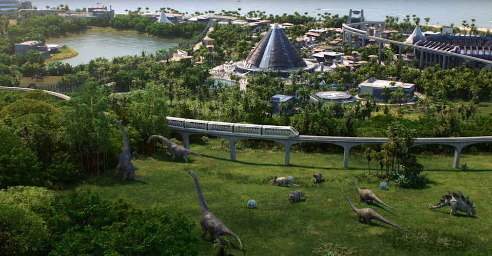 'Jurassic World Evolution' will let you build your own dino park. Just don't let the power go down.