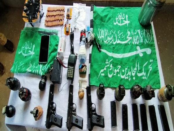 Arms and ammunition recovered from Jammu and Kashmir's Poonch district on Saturday.