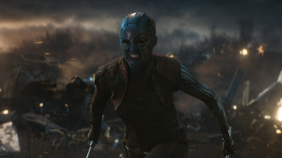 Karen Gillan as Nebula in 'Avengers: Endgame'. (Credit: Marvel/Disney)