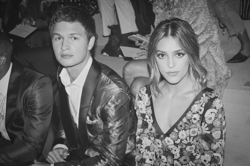 Ansel Elgort and Sistine Stallone attend the Tom Ford Spring 2018 runway show as part of New York Fashion Week.