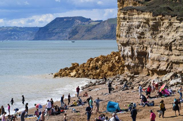 Jurassic Coast Cliff Collapses At Hive Beach
