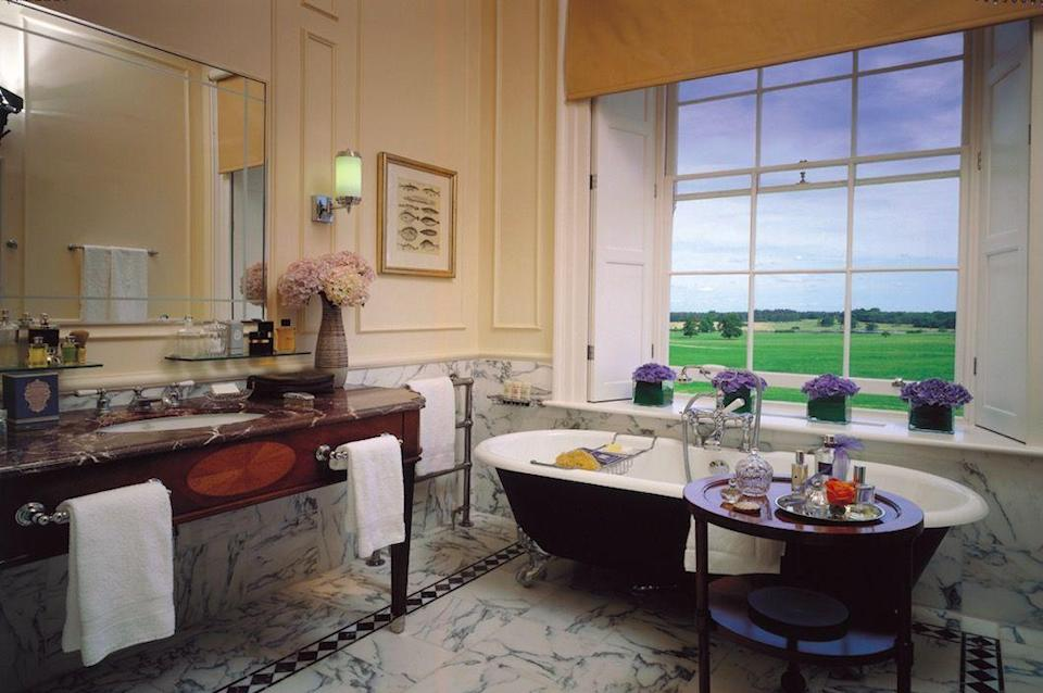 """<p>Bringing its signature blend of international glamour to the Hampshire countryside, the Four Seasons outpost in Dogmersfield, near Basingstoke and Hook, has reimagined a grand Georgian estate for the jet-set, especially Americans who just can't get enough of the British countryside. The 500-acre grounds have an activity playground with zip-line, clay-pigeon-shooting field, 16th-century dovecote and lake, not to mention a sweeping lawn straight out of a Jane Austen novel; incidentally, the author lived nearby in Chawton. The Wild Carrot plucks produce from the kitchen gardens and transforms them into delicious meals, such as roast beef with foie gras, spinach, cauliflower, black truffle and brioche croutons, and the farmers' market banquet that takes place every Sunday. The impressive cellar will suit every pocket, even on the offchance that your budget stretches to £1,050 (which will buy you a 2004 Château Mouton Rothschild, in case you're wondering). There's also an extensive spa area in the former stables, where traditional treatments are on offer as well as some that vary according to the seasons.</p><p>Four Seasons Hampshire, from £335 a room a night (<a href=""""http://www.fourseasons.com/hampshire"""" rel=""""nofollow noopener"""" target=""""_blank"""" data-ylk=""""slk:fourseasons.com/hampshire"""" class=""""link rapid-noclick-resp"""">fourseasons.com/hampshire</a>).</p>"""