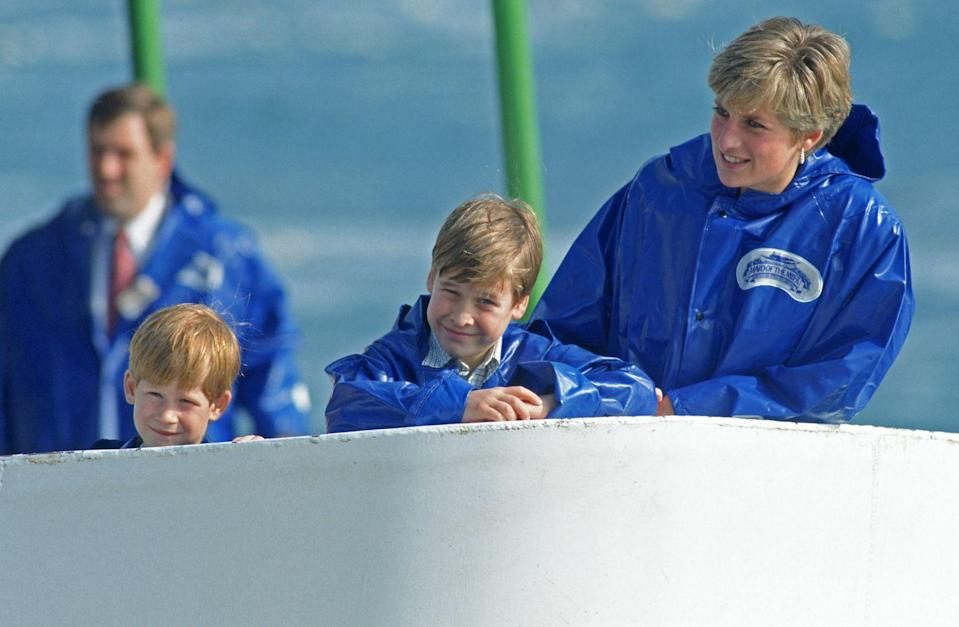<p>Having fun on a boat with Prince William and Prince Harry in Toronto during their royal tour of Canada.</p>