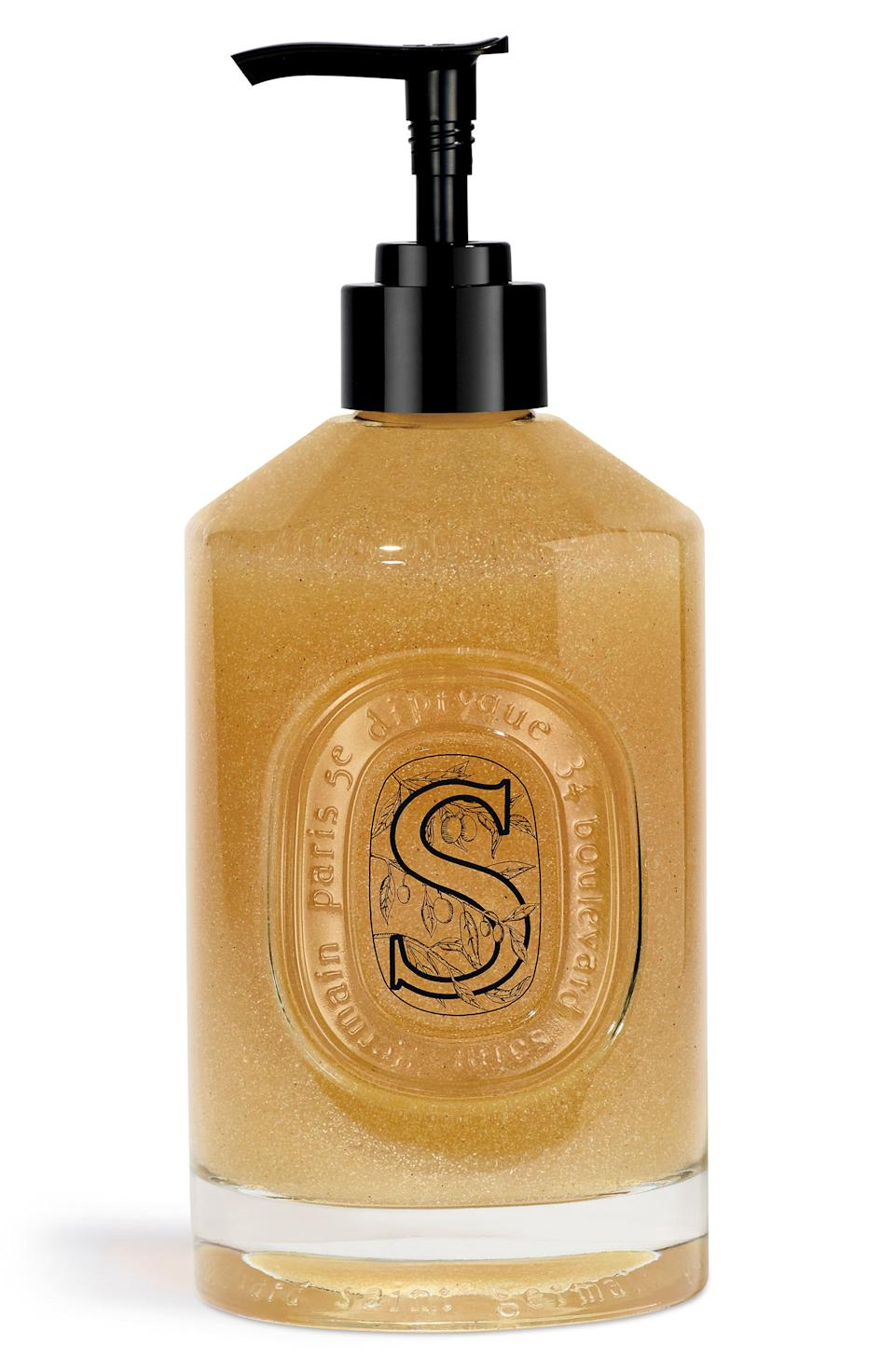 """<p><strong>DIPTYQUE Exfoliating Hand Wash</strong></p><p>nordstrom.com</p><p><strong>$62.00</strong></p><p><a href=""""https://go.redirectingat.com?id=74968X1596630&url=https%3A%2F%2Fwww.nordstrom.com%2Fs%2Fdiptyque-exfoliating-hand-wash%2F5718577&sref=https%3A%2F%2Fwww.elle.com%2Fbeauty%2Fmakeup-skin-care%2Fg13968711%2Fbest-hand-soap%2F"""" rel=""""nofollow noopener"""" target=""""_blank"""" data-ylk=""""slk:Shop Now"""" class=""""link rapid-noclick-resp"""">Shop Now</a></p><p>When iconic French fragrance brand Diptyque first debuted their hand care collection, I couldn't stop thinking about how impressive chic the glass vessels next to any sink. Even better, it lived up to the hype. The soothing soap smells totally transporting and is made with lavender and rosemary floral waters to purify, and honey makes it so there's no hand cream needed post-wash. </p>"""