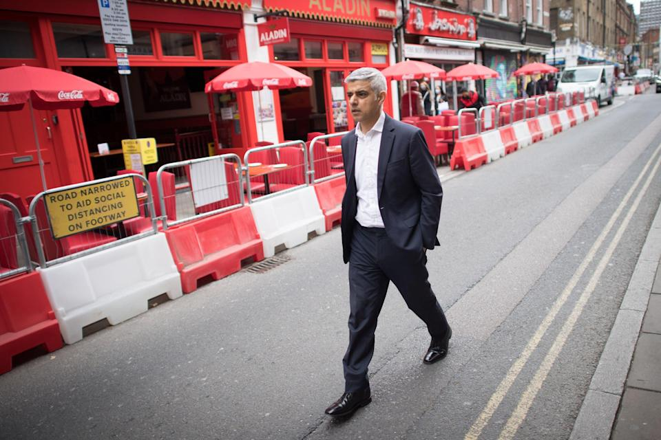 Walking the walk: Sadiq Khan wants a return to normality with the congestion charge as the pandemic endsPA