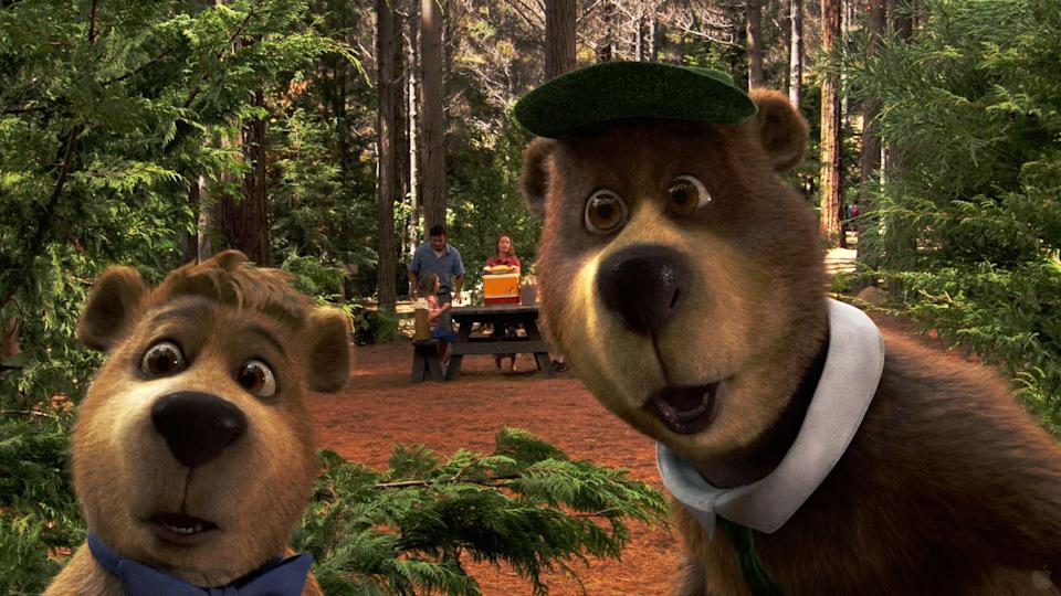 <p>Dan Akroyd and Justin Timberlake voiced the beloved Hanna Barbera characters Yogi and Booboo in this live-action/animation comedy. Not exactly the finest hour of anyone involved, but still. (Credit: Warner Bros) </p>