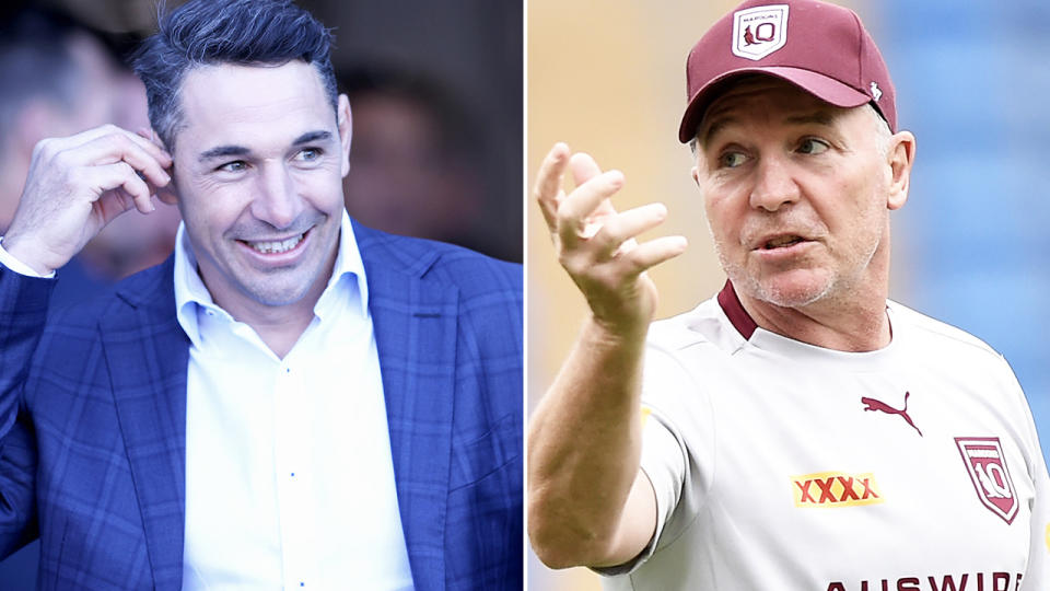 Paul Green and Billy Slater, pictured here at Suncorp Stadium.