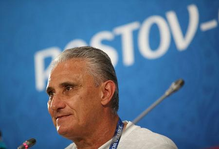 Soccer Football - World Cup - Brazil Press Conference - Rostov Arena, Rostov-on-Don, Russia - June 16, 2018 Brazil coach Tite during the press conference REUTERS/Marko Djurica
