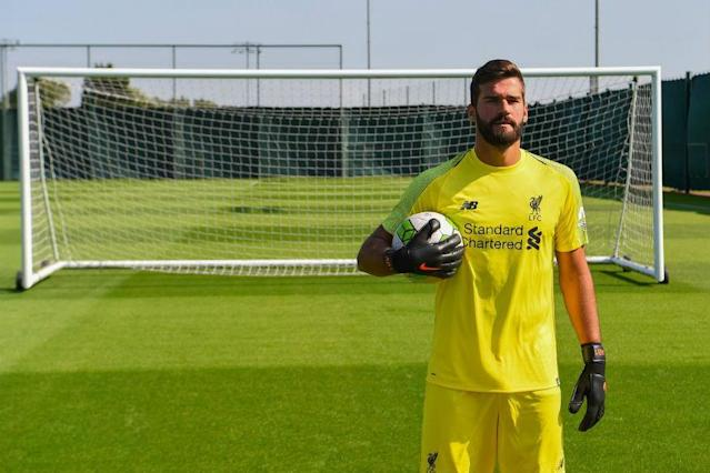 Liverpool on Thursday signed Brazil goalkeeper Alisson from Roma in a world record deal valued at 72.5 million euros by the Italian club.