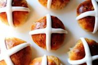 "<p>These traditional Easter buns can be enjoyed at breakfast, brunch, or during dessert if you'd like!</p><p><strong><a href=""https://www.thepioneerwoman.com/food-cooking/recipes/a11482/hot-cross-buns/"" rel=""nofollow noopener"" target=""_blank"" data-ylk=""slk:Get Ree's recipe."" class=""link rapid-noclick-resp"">Get Ree's recipe.</a></strong></p><p><strong><a class=""link rapid-noclick-resp"" href=""https://go.redirectingat.com?id=74968X1596630&url=https%3A%2F%2Fwww.walmart.com%2Fsearch%2F%3Fquery%3Dactive%2Bdry%2Byeast&sref=https%3A%2F%2Fwww.thepioneerwoman.com%2Ffood-cooking%2Fmeals-menus%2Fg35408493%2Feaster-desserts%2F"" rel=""nofollow noopener"" target=""_blank"" data-ylk=""slk:SHOP ACTIVE DRY YEAST"">SHOP ACTIVE DRY YEAST</a><br></strong></p>"