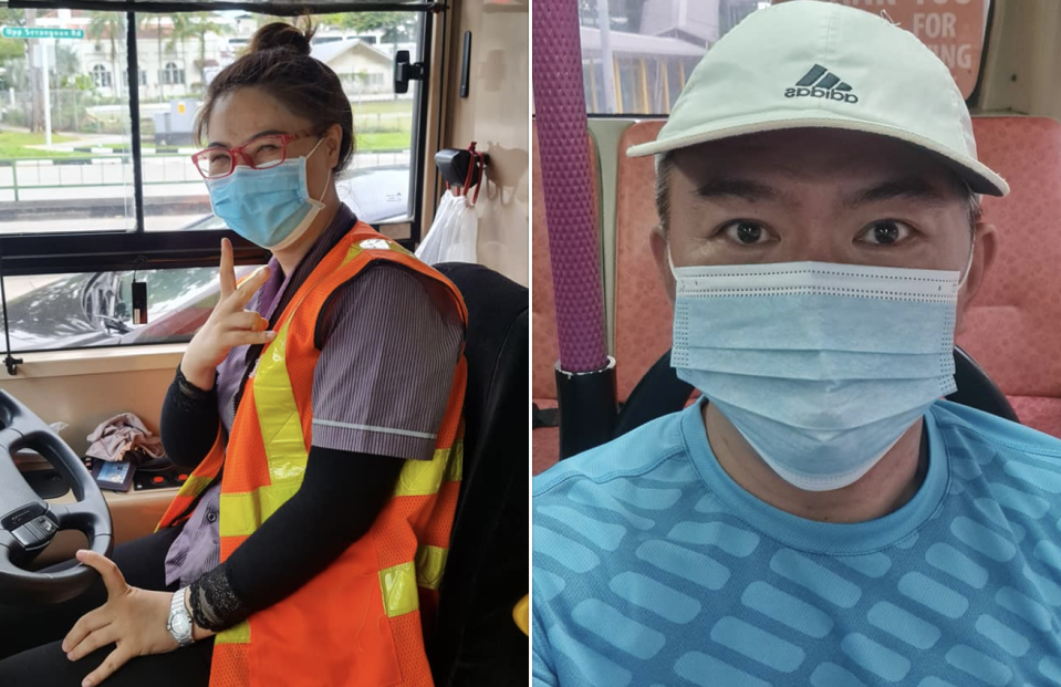 SBS Transit bus captain offers mask to passenger who's about to run home to get one