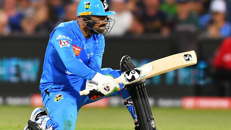 Rashid Khan, pictured here in action for the Adelaide Strikers.