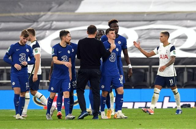 Mason Mount is consoled by Frank Lampard after his penalty miss