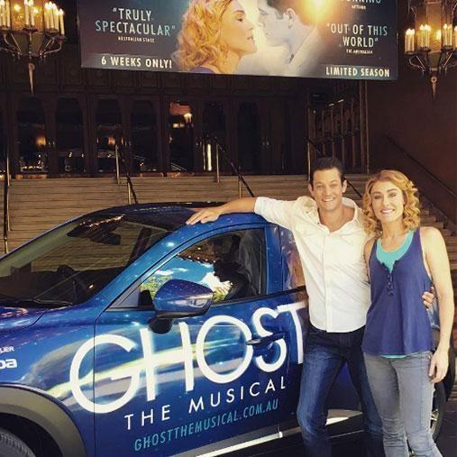 Rob has just finished his national tour of Ghost the Musical. Photo: Instagram/robmillsymills