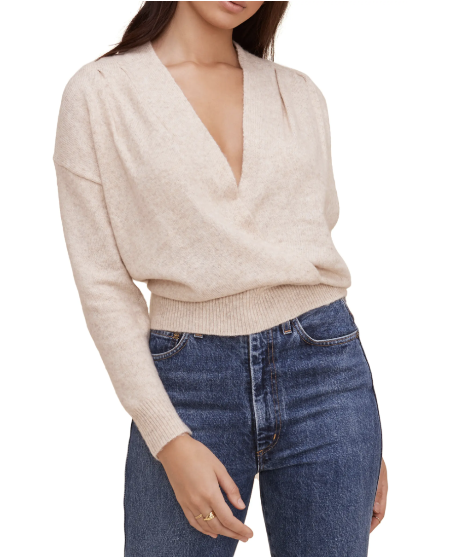 ASTR the Label Pleated Wrap Front Sweater - Nordstrom, $27 (originally $61)