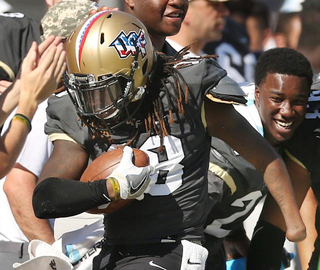 Shaquem Griffin had 11.5 sacks, two forced fumbles and an interception in 2016. (Getty)