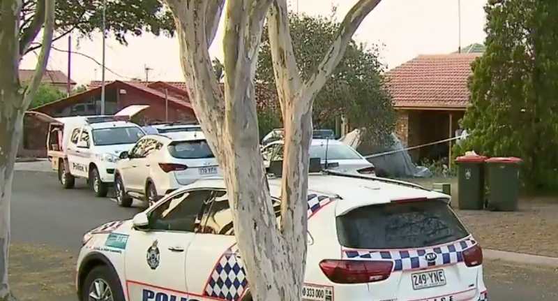A crime scene has been established at the scene. Source: Nine News
