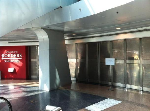 The Borders store at Wheelock Place has closed due to a dispute.