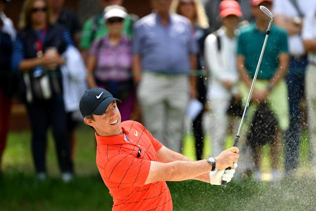 "<a class=""link rapid-noclick-resp"" href=""/pga/players/8016/"" data-ylk=""slk:McIlroy"">McIlroy</a>, who claimed a record $15 million prize at East Lake last week, said he's ready to push past <a class=""link rapid-noclick-resp"" href=""/pga/players/12875/"" data-ylk=""slk:Brooks Koepka"">Brooks Koepka</a> and reclaim the top spot in the World Golf Rankings. (Stuart Franklin/Getty Images)"