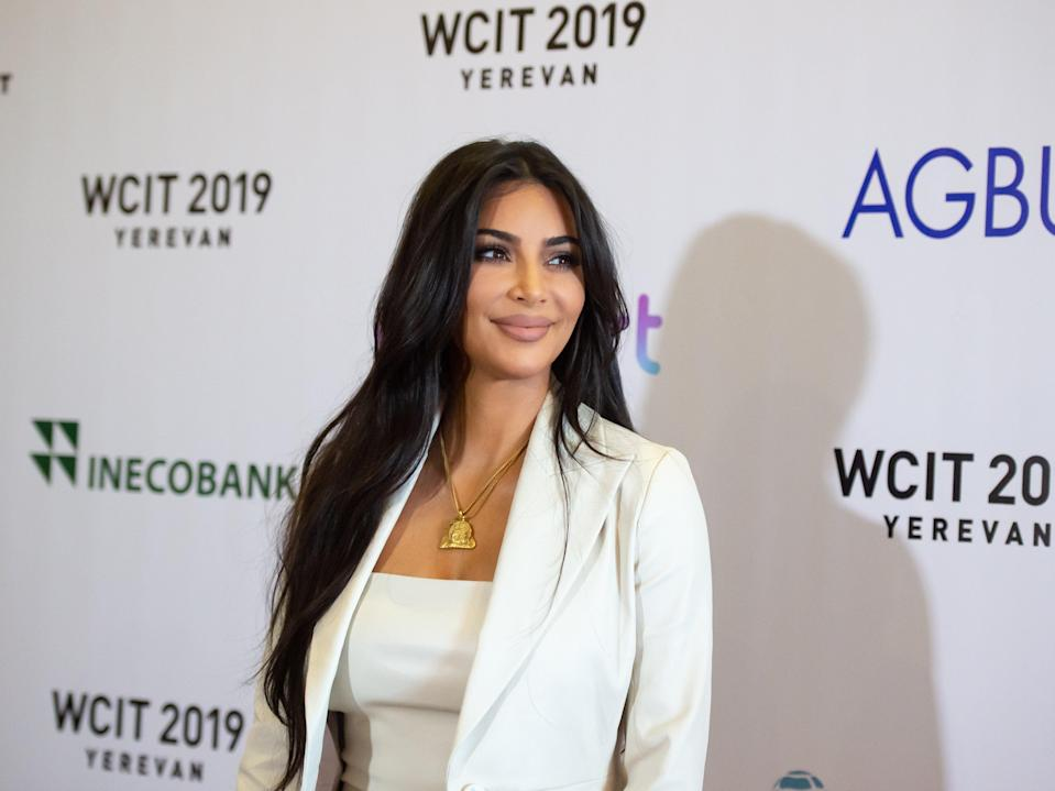 Kim says she contracted Covid-19 from her son Saint (Shutterstock / Asatur Yesayants)