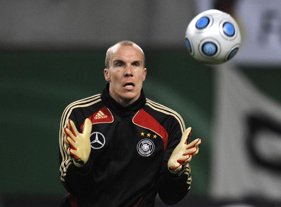 Mental health is seen as one of the last taboos in the macho world of professional football, despite occasional high-profile incidents such as the suicide of German goalkeeper Robert Enke (pictured) in November 2009 (AFP Photo/John Macdougall)