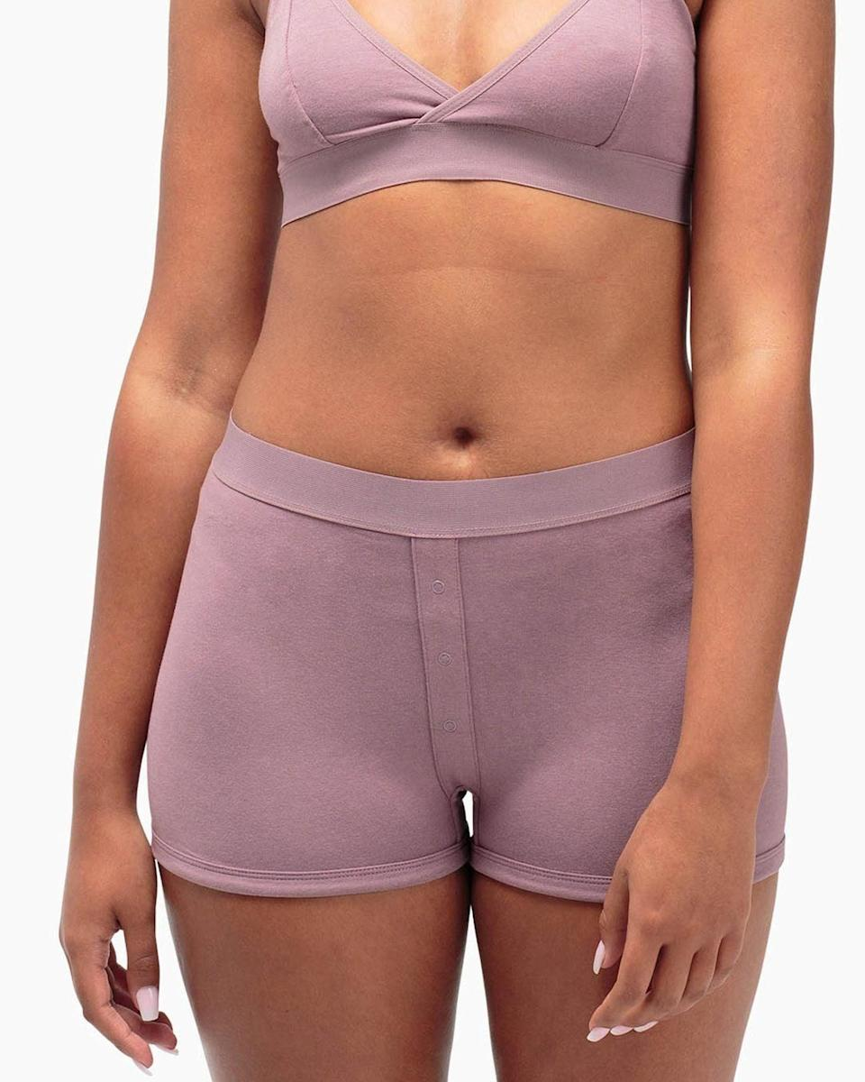 <p>If comfort is one of your top priorities, we recommend the <span>RicherPoorer Femme Boxer</span> ($26).</p>