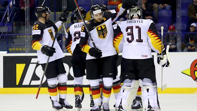 A 4-1 win over France saw Germany make it three wins from as many games at the IIHF Ice Hockey World Championship.