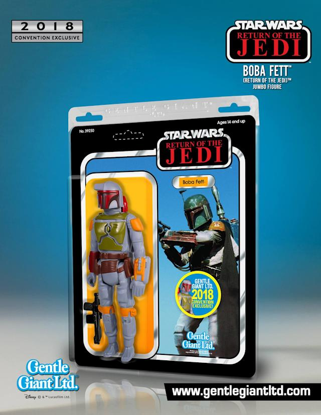 Gentle Giant Ltd.'s 12-inch Boba Fett was digitally scanned from 3 3/4 action figure and comes in vintage packaging. (Photo: Gentle Giant Ltd.)