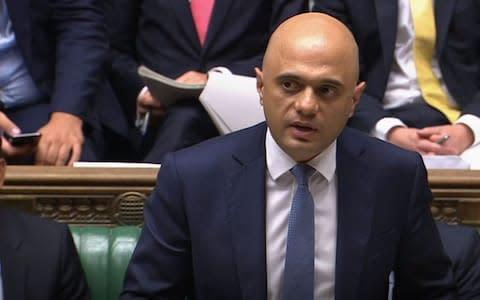 <span>Sajid Javid is addressing the Commons currently</span> <span>Credit: House of Commons/ PA </span>
