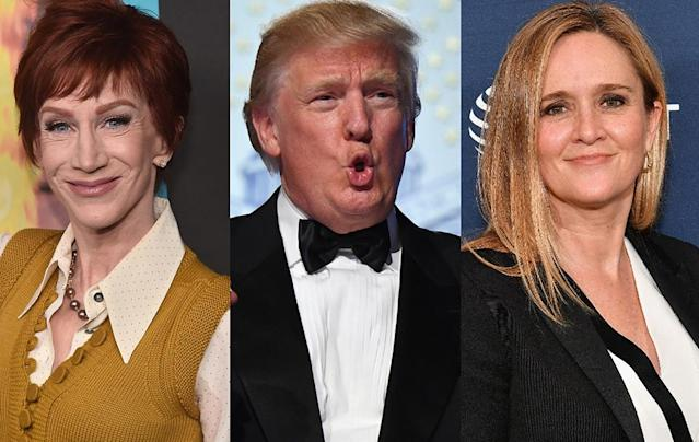 Kathy Griffin, Donald Trump, and Samantha Bee (Photo: Getty Images)