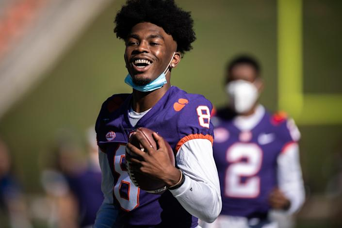 Clemson wide receiver Justyn Ross is expected to get plenty of looks after missing last season due to injury.