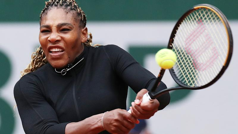 Serena Williams, pictured here during her win in the first round at the French Open.
