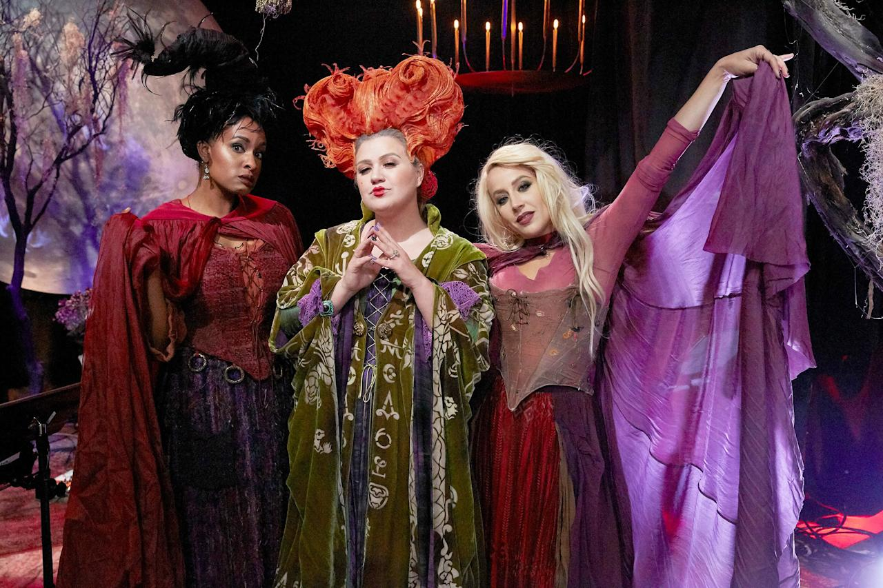"""The <a href=""""https://people.com/movies/hocus-pocus-turns-25-see-the-witches-and-the-rest-of-the-cast-then-and-now/"""">Sanderson sisters</a> are here to cast a spell on you."""