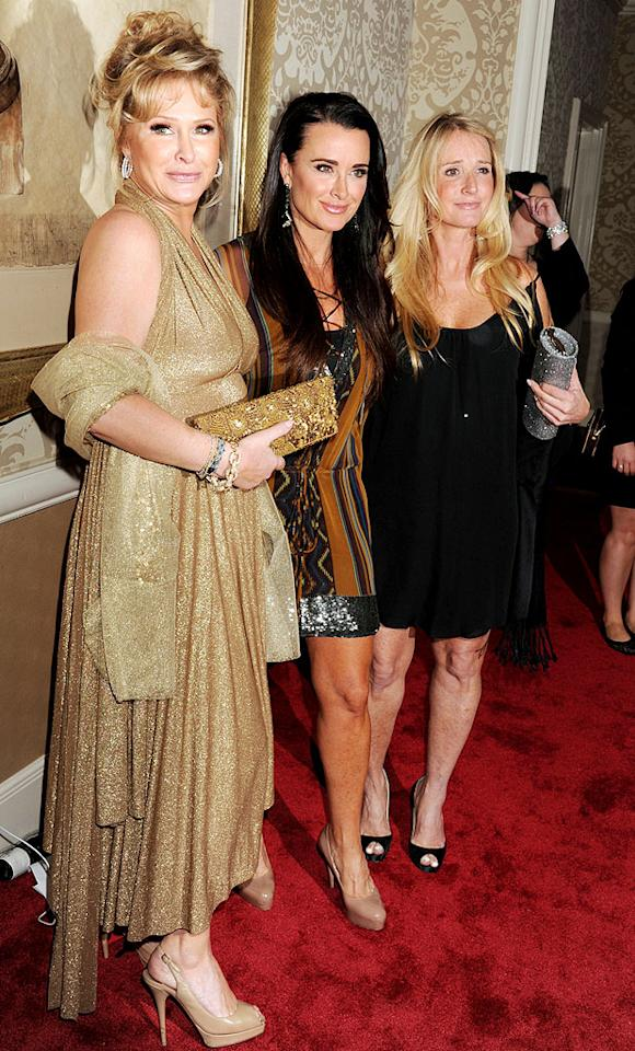 BEVERLY HILLS, CA - FEBRUARY 23: Kathy Hilton, Kyle Richards and Kim Richards attend the QVC's'Buzz On The Red Carpet' Cocktail Party  at Four Seasons Hotel Los Angeles at Beverly Hills on February 23, 2012 in Beverly Hills, California. (Photo by Jeffrey Mayer/WireImage)