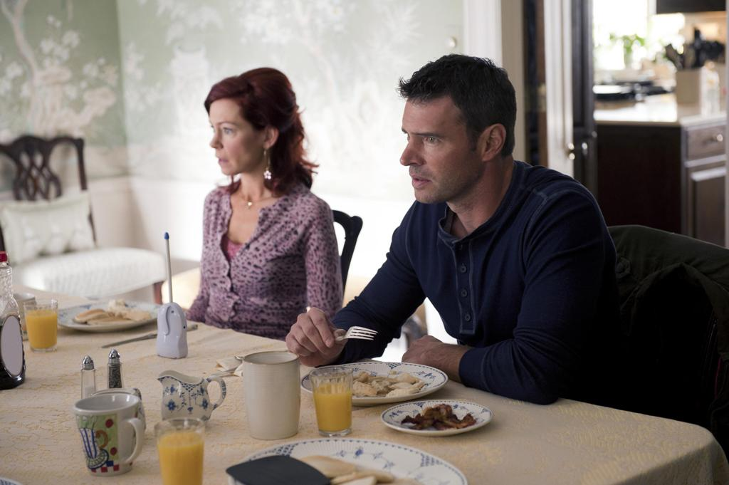 Carrie Preston as Arlene Fowler and Scott Foley as Patrick