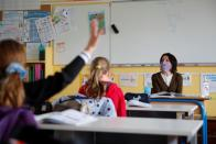 French children return to school in Saint-Sebastien-sur-Loire