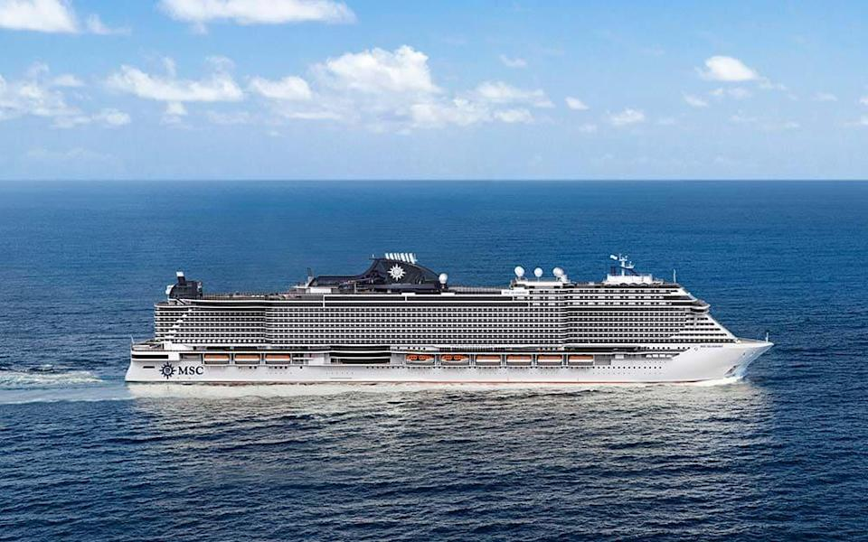 "MSC Seashore, one of the most advanced ships being built, will feature ""Safe Air"" technology"