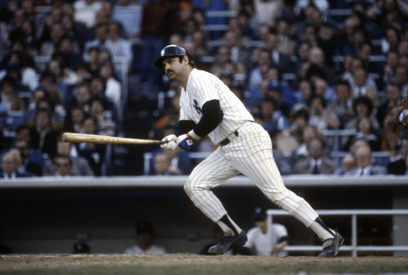 NEW YORK - CIRCA 1975: Thurman Munson #15 of the New York Yankees bats during an Major League Baseball game circa 1975 at Yankee Stadium in the Bronx borough of New York City. Munson played for the Yankees from 1969-79. (Photo by Focus on Sport/Getty Images)