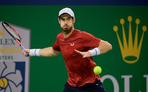 <span>Murray will face 10th-seeded Fabio Fognini in the next round</span> <span>Credit: GETTY IMAGES </span>