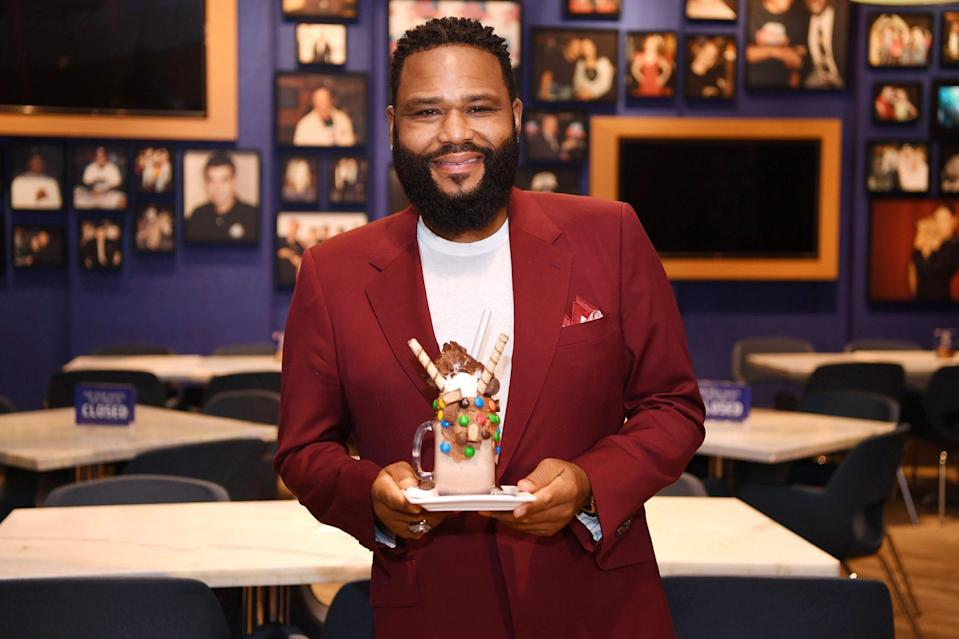 <p>Anthony Anderson satisfies his sweet tooth at the reopening of Planet Hollywood Resort & Casino on Thursday in Las Vegas. </p>
