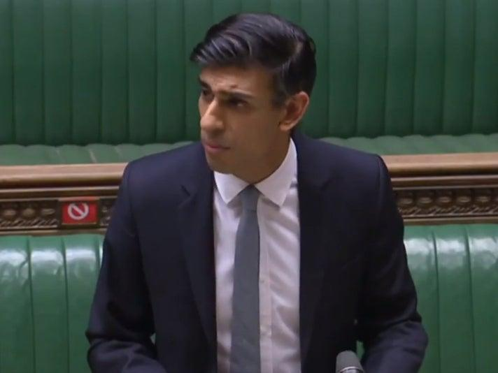 <p>Rishi Sunak said in his Budget speech that the benefit uplift introduced last April to mitigate the impact of pandemic  would remain in place until September  </p> (Screen grab)