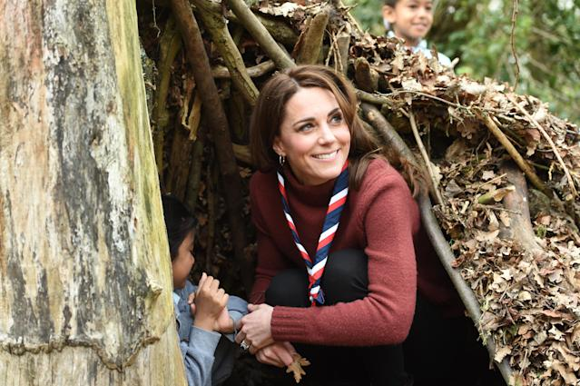 Kate, pictured at the Scouts' headquarters at Gilwell Park, Essex [Photo: PA]