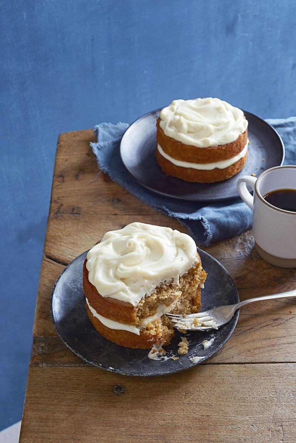 "<p>This sweet spice cake recipe is filled with a fall root veg (think of it like carrot cake) and topped with irresistible brown butter frosting.</p><p><em><a href=""https://www.goodhousekeeping.com/food-recipes/a15941/spiced-parsnip-cake-recipe-ghk1014/"" rel=""nofollow noopener"" target=""_blank"" data-ylk=""slk:Get the recipe for Spiced Parsnip Cake »"" class=""link rapid-noclick-resp"">Get the recipe for Spiced Parsnip Cake »</a></em></p>"