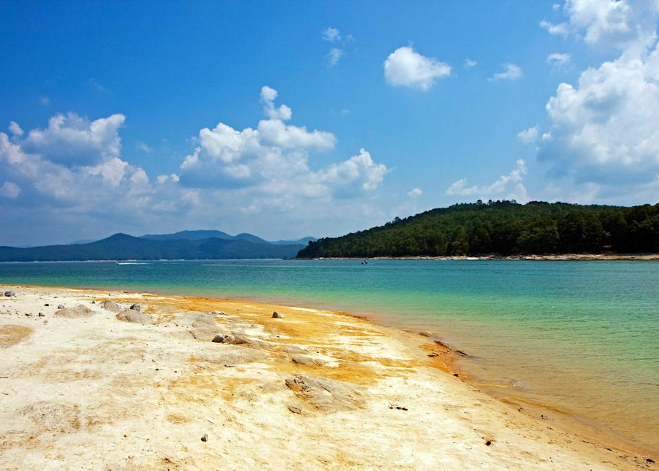 """<p><strong>Best camping in South Carolina:</strong> Devil's Fork State Park</p> <p>Don't let the name fool you—Devil's Fork is home to some of the most heavenly, mountain spring-fed waters in the state. Set on the tranquil edge of Lake Jocassee, this largely undeveloped park is full of opportunities for freshwater <a href=""""https://www.cntraveler.com/galleries/2014-05-06/10-scuba-diving-sites-bucket-list?mbid=synd_yahoo_rss"""" rel=""""nofollow noopener"""" target=""""_blank"""" data-ylk=""""slk:scuba divers"""" class=""""link rapid-noclick-resp"""">scuba divers</a>, trout lovers, and paddlers hunting for obscure waterfalls.</p>"""
